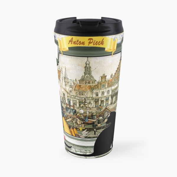 November - Canals in old Amsterdam Travel Mug