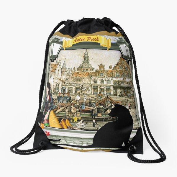 November - Canals in old Amsterdam Drawstring Bag