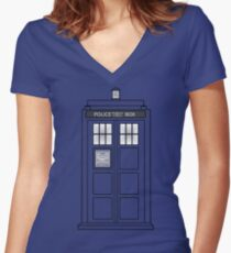 Telephone Box Women's Fitted V-Neck T-Shirt