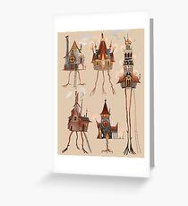 Baba Yaga Houses Greeting Card