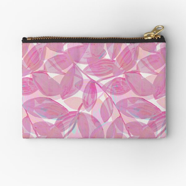 Leaves in rose color Zipper Pouch