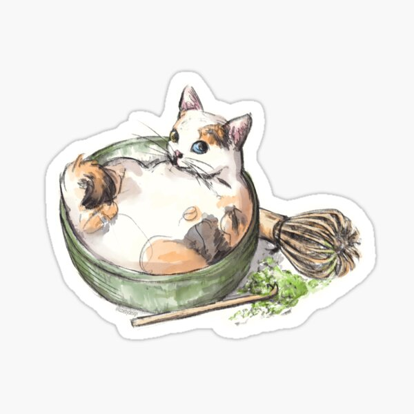Matcha Cat Sticker