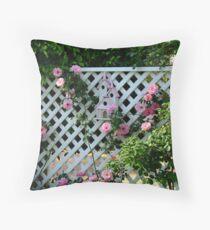 Rosalee Cottage Garden Throw Pillow