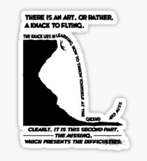 How To Fly Sticker