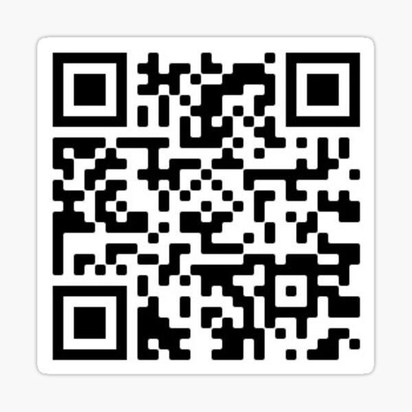 "Spongebob QR code for ""Who put you on the planet"" YT Video Sticker"