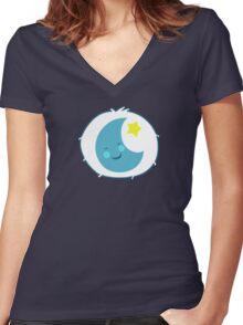 Bedtime Bear - Carebears - cartoon logo Women's Fitted V-Neck T-Shirt