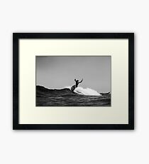 Black and white airs Framed Print