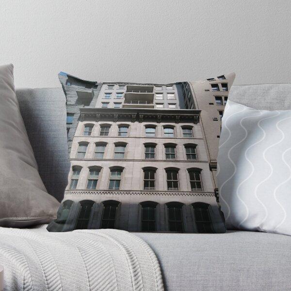 Apartment, New York, Manhattan, New York City, Skyscraper, tower block, high rise building, tower, block, high rise, building Throw Pillow
