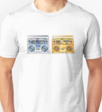 Retro Star Wars Boom box/Ghetto Blaster R2-D2 C-3PO T-Shirt