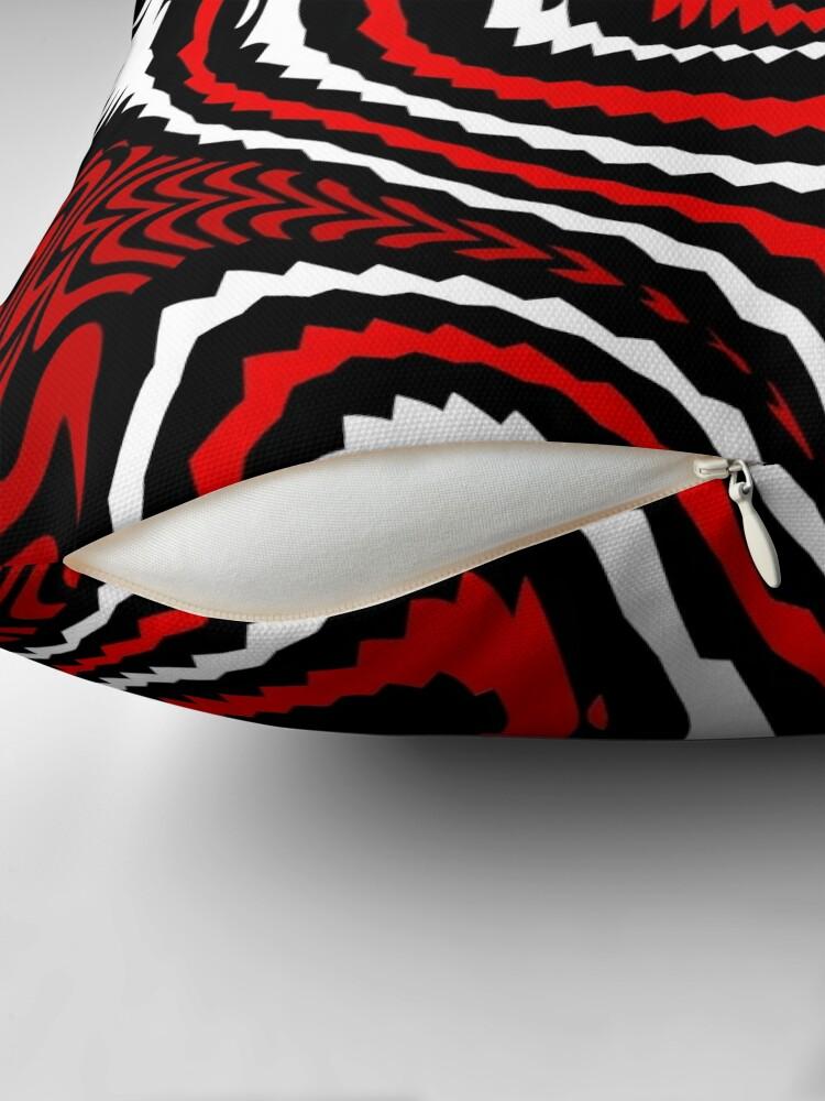 Alternate view of TheCoffeeCupLife: Alejandro's  Red, White, & Black Throw Pillow