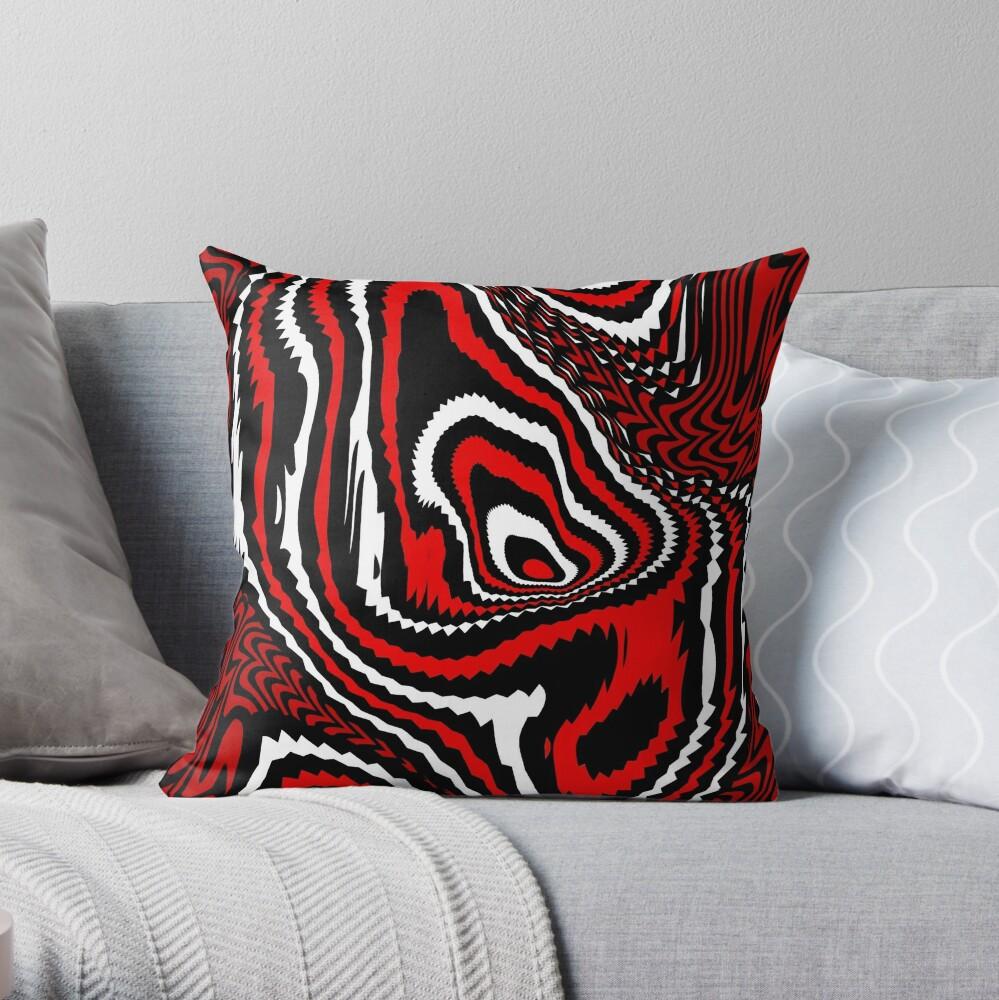 TheCoffeeCupLife: Alejandro's  Red, White, & Black Throw Pillow