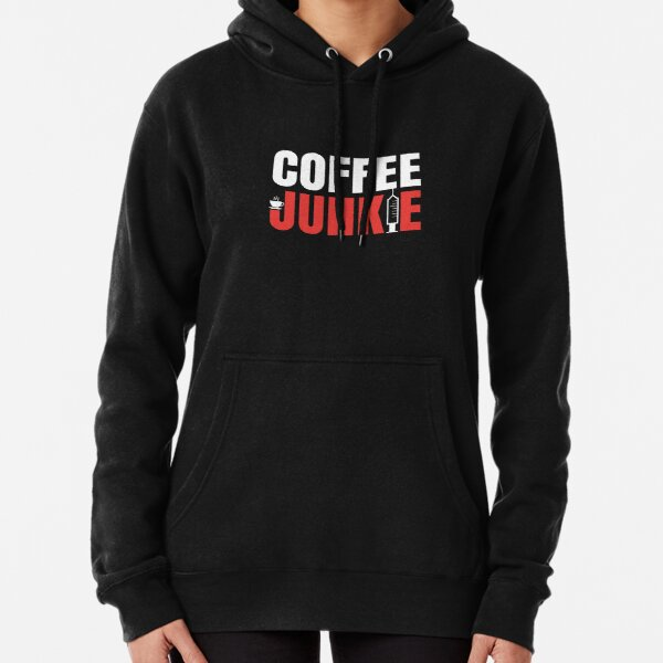 T-Shirt für Kaffee Trinker - Coffee Junkie Design (helles Design) Hoodie
