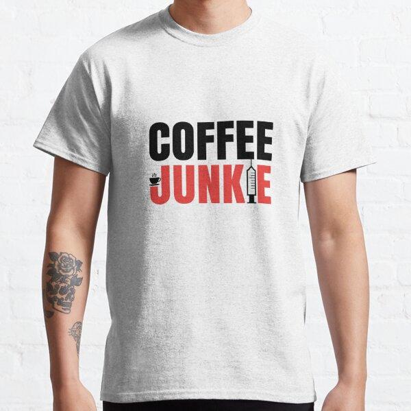 T-Shirt für Kaffee Trinker - Coffee Junkie Design (dunkles Design) Classic T-Shirt
