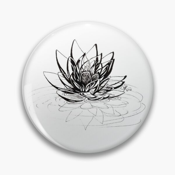 Glass Lotus Pin