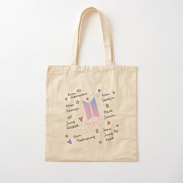 BTS doodle art (noms des membres) Tote bag classique