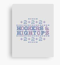 Cross Stitch - Hookers & Hightops - Blue/Purple Canvas Print