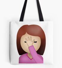 Lady Palm Gesicht Emoji Tote Bag