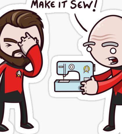 Make It Sew! - Star Trek Inspired Sticker