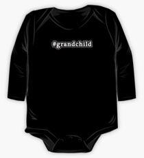 Grandchild - Hashtag - Black & White One Piece - Long Sleeve