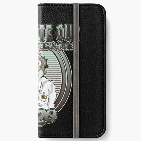 WE SALUTE OUR ESSENTIAL PERSONNEL iPhone Wallet