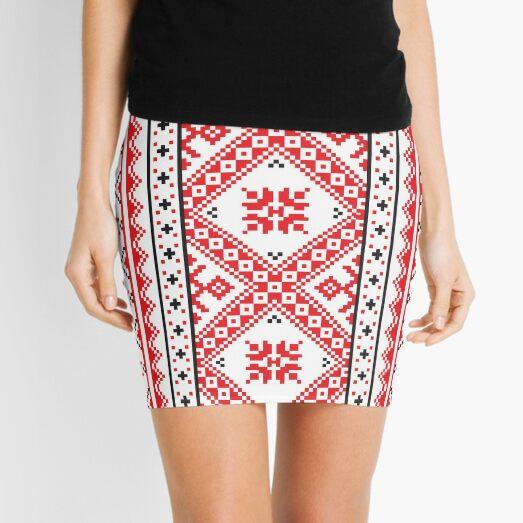 #Ukraine #Pattern - Ukrainian Embroidery: вишивка, vyshyvka #UkrainianPattern #UkrainianEmbroidery Mini Skirt