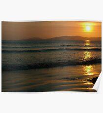 Sunset On Rossnowlagh Beach Poster