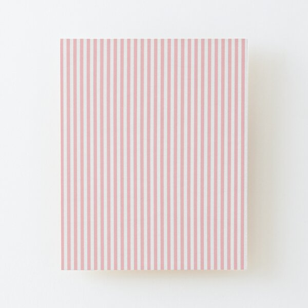 Cotton Candy Pink and White Stripe Wood Mounted Print