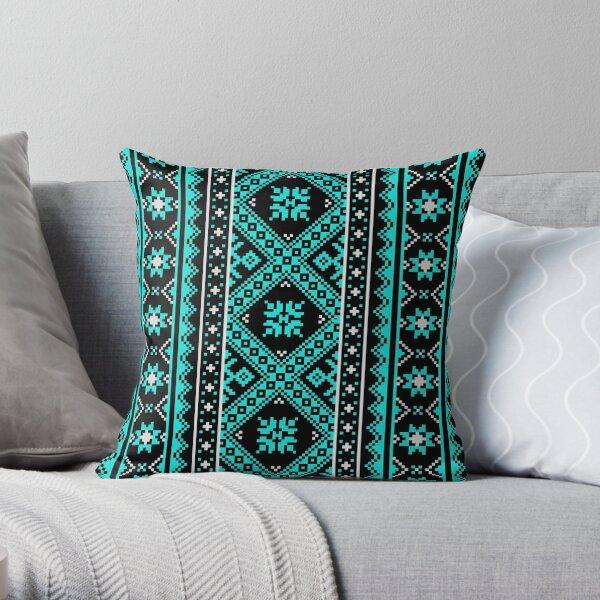 #Ukraine #Pattern - Ukrainian Embroidery: вишивка, vyshyvka #UkrainianPattern #UkrainianEmbroidery Throw Pillow