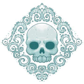 Shabby Chic Skull by crabro