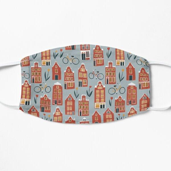 Cute Amsterdam houses pattern Flat Mask