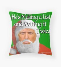 Trump Santa Throw Pillow