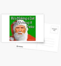 Trump Santa Postcards