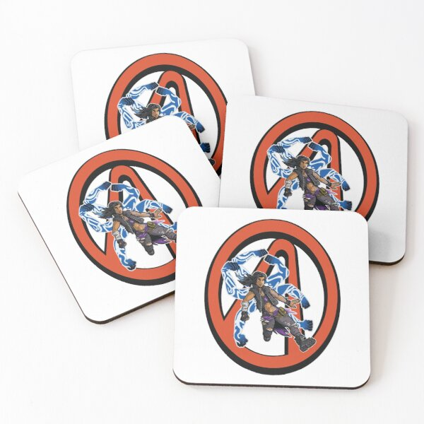 Amara The Siren Vault Symbol Borderlands 3 The Tiger of Partali Coasters (Set of 4)