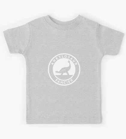 Ankylosaur Fancier (White on Dark) Kids Clothes