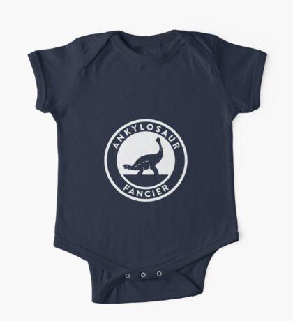 Ankylosaur Fancier (White on Dark) Kids Clothes