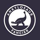 Ankylosaur Fancier (White on Dark) by David Orr