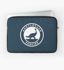 Ankylosaur Fancier (White on Dark) Laptop Sleeve