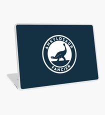 Ankylosaur Fancier (White on Dark) Laptop Skin