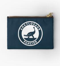 Ankylosaur Fancier (White on Dark) Studio Pouch