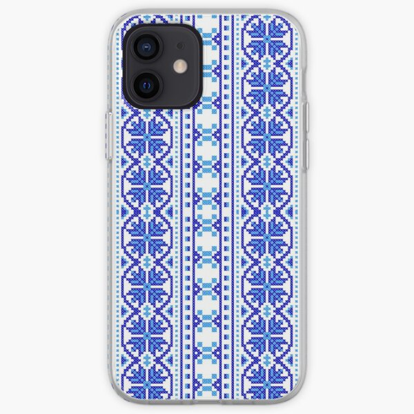 #UkrainianFolkCostumePattern #ukrainianfolk #costumepattern #ukrainian #folk #costume #pattern #decoration #ornate #abstract #textile #creativity #fashion #repetition #vertical #colorimage #retrostyle iPhone Soft Case