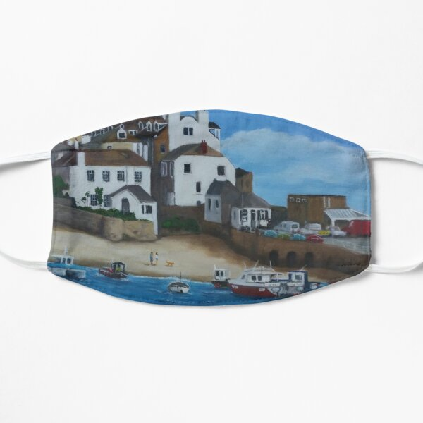 St Ives Harbour Oil Painting Flat Mask