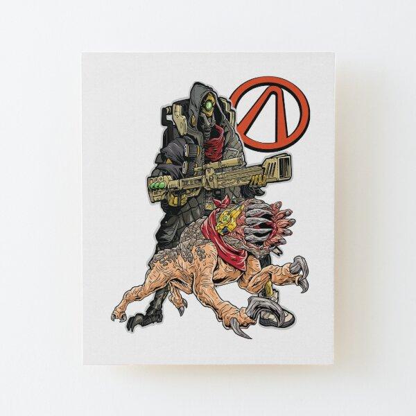 FL4K The Beastmaster With Guard Skag Vault Symbol Borderlands 3 Rakk Attack! Wood Mounted Print