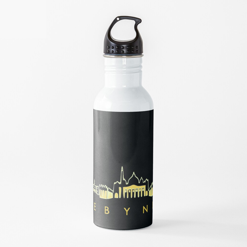 Rome By Night Panorama Roman City Silhouette Water Bottle