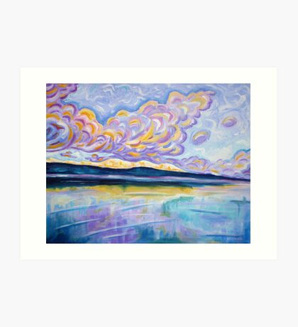 Sunrise on the Comox Glacier Art Print