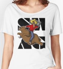 Kanye .. on a flying bear? Women's Relaxed Fit T-Shirt