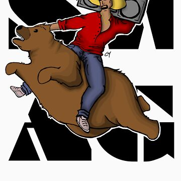 Kanye .. on a flying bear? by CL4P-TP