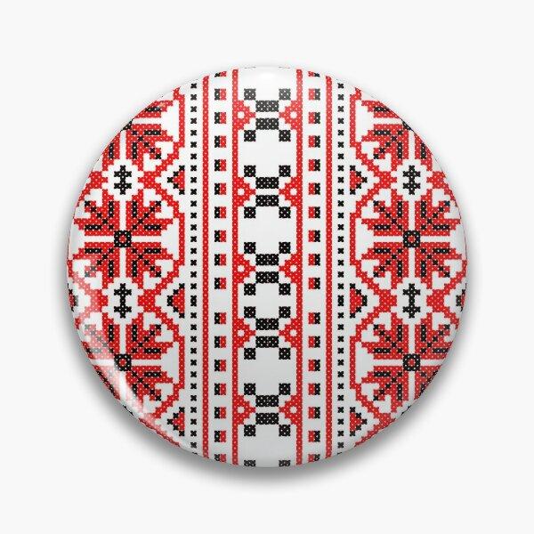 Ukrainian folk costume pattern Pin