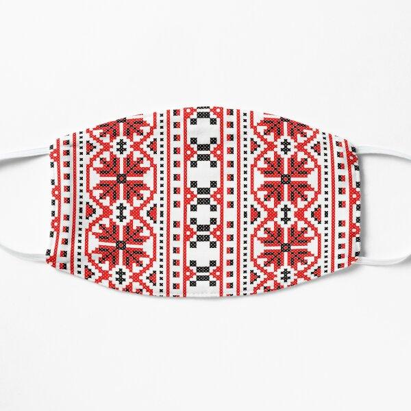 Ukrainian folk costume pattern Flat Mask