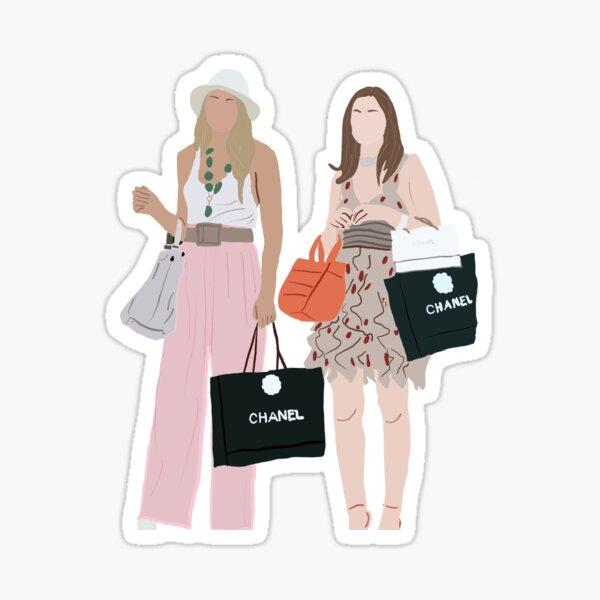 Serena y Blair en París, chismosa Pegatina