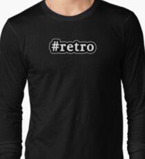 Retro - Hashtag - Black & White Long Sleeve T-Shirt